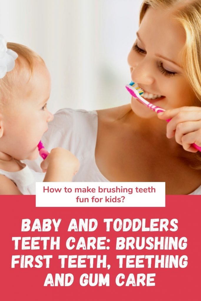 How Do I Care for My Baby's Teeth? (for Parents). Learn how to properly care for your baby's new teeth. Let your baby see you, and the rest of the family, brushing teeth: Babies learn by wanting to copy what they see!   #howtobrushababy'steeth #howtobrushbabyteeth #brushingbabyteeth #howtogetatoddlertobrushhisteeth #howtobrushachild'steeth